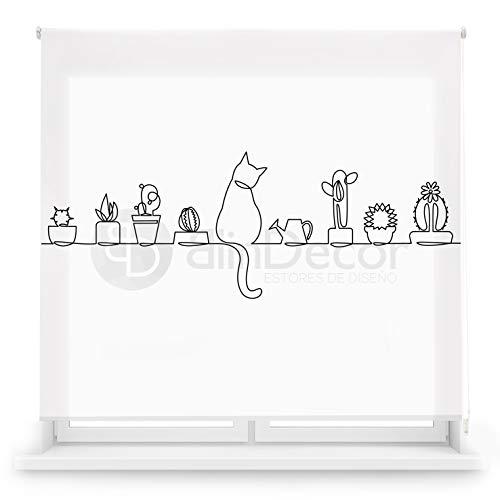 Blindecor Estor Enrollable translúcido Cocina, Cat, 170 x 180 (Ancho x Alto)