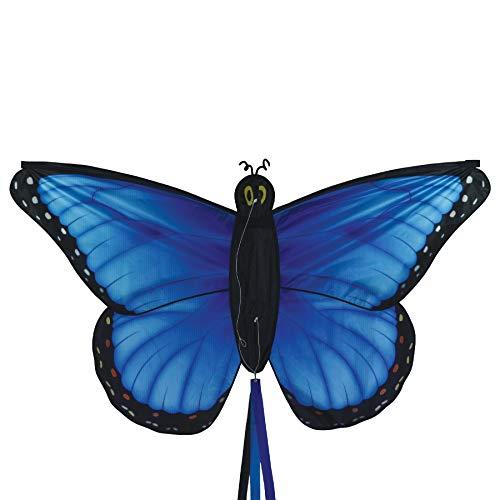 "In the Breeze 3287 - 49.5"" Blue Morpho Butterfly Kite - Fun, Easy Flying Kite"