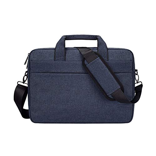 Laptop Tasche 15.6 Zoll Notebooktasche Aktentasche Tablet Tasche Schulter Umhängetasche Wasserabweisend Satchel Bussiness Laptoptasche für Frauen und Männer,Marine,15.4inches