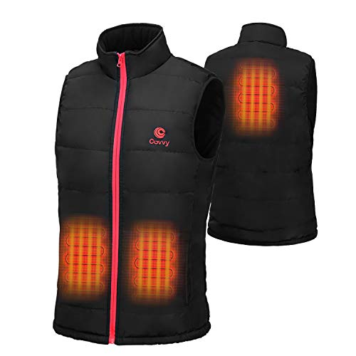 COVVY Heated Vest for women Washable Electric Warm Gilet Jacket with battery pack sleeveless Outerwear for Outdoor Camping Hiking Hunting Skiing (XL)