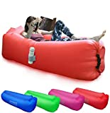 BACKTURE Inflatable Lounger, Air Sofa Lazy Portable Waterproof Leak-proof Air Lounger Ultra-light Bed with Pillow Pool & Storage Bag Float for Camping, Hiking, Swimming Pool, Beach, Travelling