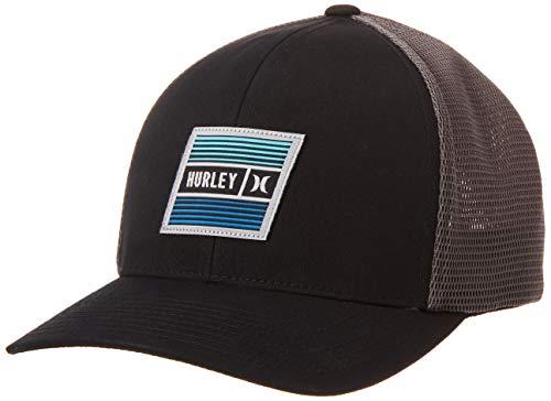 Hurley M East Cape Hat Gorra, Hombre, Black, S/M