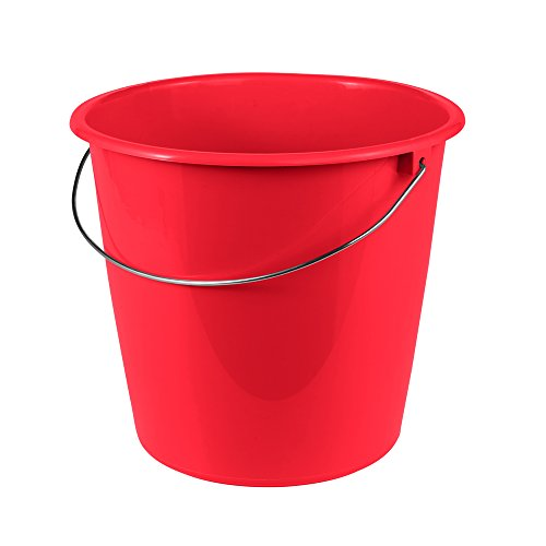 keeeper Eimer 10 l mit Metallbügel, Polypropylen, Rot