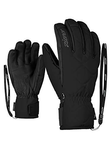Ziener Damen KRISTA AS(R) AW lady glove Ski-Handschuhe/Wintersport, Wasserdicht, Atmungsaktiv, Black, 8,5