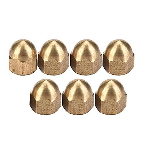 Kit d'écrou borgne en laiton capuchon de tête de dôme ensemble d'écrous hexagonaux capuchon en laiton écrous hexagonaux décoratifs écrou de couverture de tête de dôme M3-M12(M4)