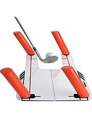 ETE ETMATE Ayuda de Entrenamiento de Golf, Base de Trampa de Velocidad de Golf, Entrenador de swing de golf Asistente de práctica de golf Path de Swing Diseñado para Planchas, Woods
