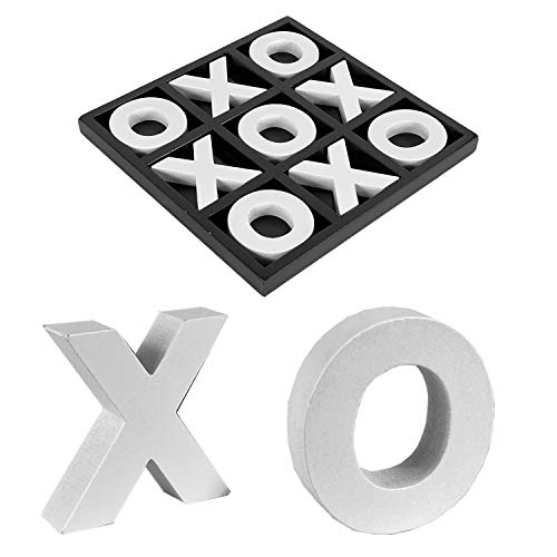 Mojawo Strategie Spiel Holz Brettspiel Tic Tac Toe Legespiel Denkspiel Reisespiel 23x23cm