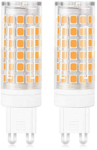 MENGS 2 Pack de Bombilla LED G9 12W Lámpara LED Bombilla AC 220-240V, 720LM Equivalente a 95W Con Ceramics + PC (Blanco Frío)