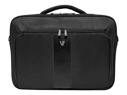 """V7 13"""" Professional 2 Frontloading Laptop and Tablet Case for business professionals, college students and travelers made of water resistant Polyester - CCP24-9N,Black"""