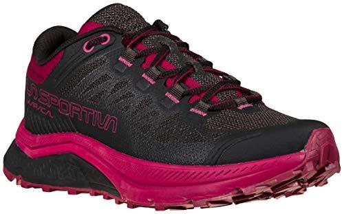 La Sportiva Women's Karacal Trail Running Shoe - Color: Black/Red Plum - Size: 10 - Width: Regular