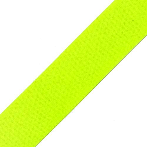 40mm (1-1/2') Elastic Stretch Band Ribbon Trim by 2-Yards, TR-11870 (Neon Green)