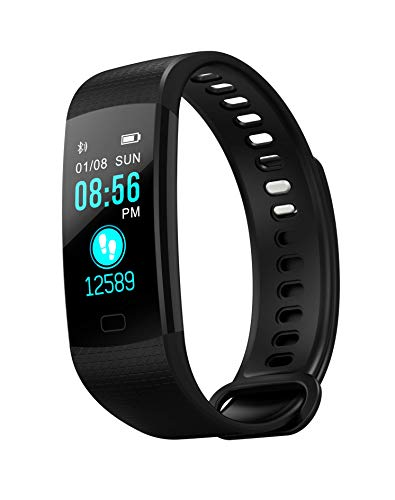 Fitness Tracker with Heart Rate Monitor, Best Sports Activity Tracker Watch, Waterproof Pedometer Watch with Sleep Monitor, Step Tracker for Kids, Women, and Men(Black)