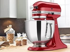 KitchenAid RRK150CA Artisan Series Stand Mixer, 5 quart, Candy Apple Red (Renewed)