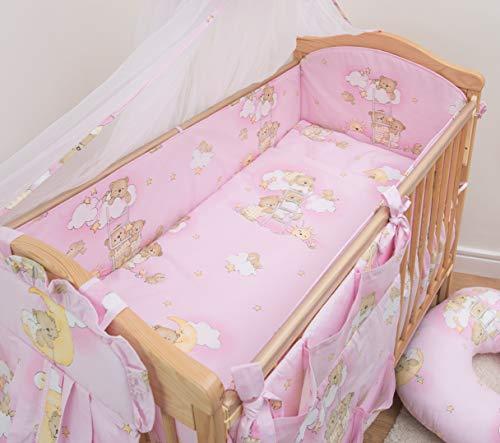 5 Pcs Baby Nursery Bedding Set, 140x70cm 420cm Long Bumper, Suits Cot Bed - Pattern 5