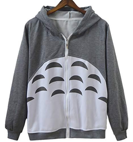 YunPeng Cartoon Anime Totoro Casual Long Sleeve Hoody Sweatshirt For Teens