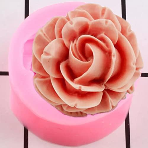 SUNIY Blooming Rose Cake Molde de Silicona Pastel de Bodas Cake Topper Herramienta de decoración de Pasteles Resina Arcilla Caramelo Molde de Jarabe de Chocolate
