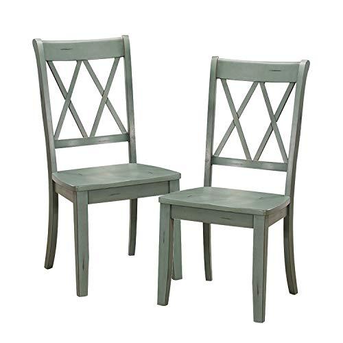 Homelegance Dining Chair (Set of 2), Teal