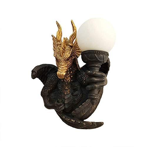KANJJ-YU Lámpara Creativa, Lámpara de Pared, Aplique Industrial, Vintage, Lámpara Interior, Decoración para Dormitorio, salón, Dragón