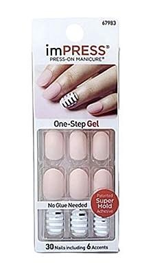 Kiss imPress Press-on Manicure Matte Peach Oval Nails