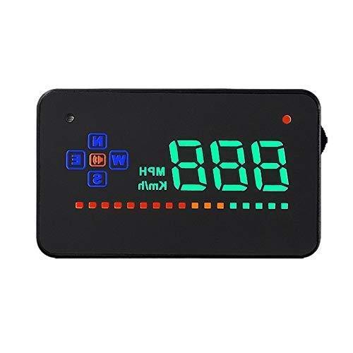 Riloer A2 HUD Head Up Display Monitor para HUD GPS Sistema de Advertencia de Exceso de Velocidad Proyector Parabrisas Alarma Electrónica Atomática de Voltaje