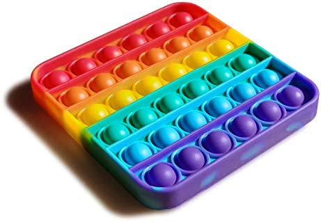 Pop Fidget Toy Rainbow Square Push Bubble Sensory Board Toys for Autism Special Needs Stress product image