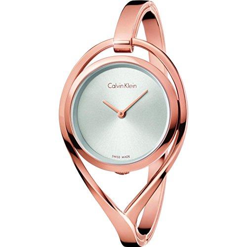 Calvin Klein Reloj Analogico para Mujer de Cuarzo con Correa en Acero Inoxidable K6L2M616