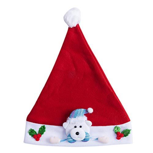 QWERGLL Lovely Children Baby Christmas Santa Claus Hat Santa Claus Elk Snowman Party Xmas Decoration