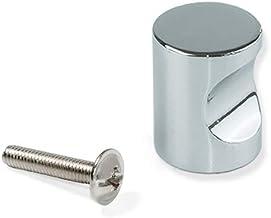 Emuca 9156751 deurknop voor meubelstuk, Ø20 mm, Zamak, verchroomd, 1 stuk