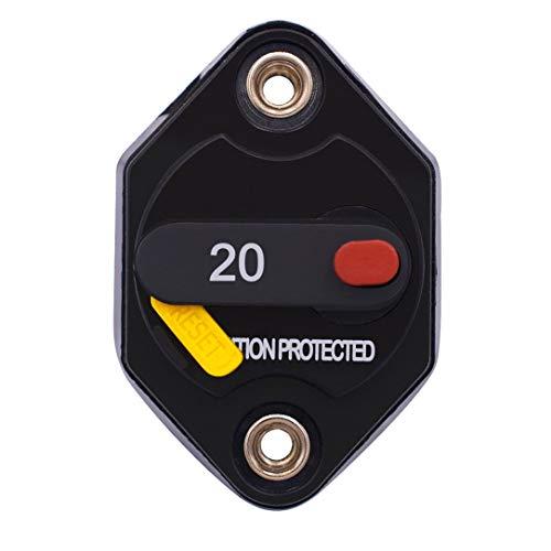 Las piezas de modificación del coche pueden restaurar el disyuntor Reinicio eléctrico del disyuntor + interruptor 20A 30A 40A, negro y amarillo