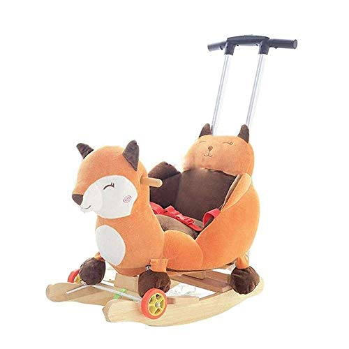 Kinderen Knuffels Child Rocking Horse Toy met verstelbare Putter for Kid 6-36 maanden Peuter/Child Gevulde Ride speelgoed for Outdoor Indoor (Color : Brown)