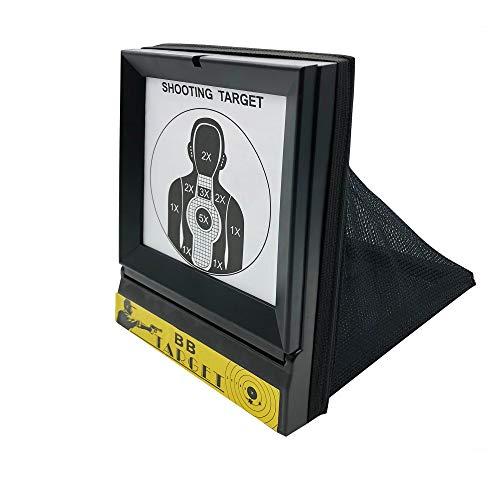 Zielscheibe mit Kugelfang Netz 03-B1 Rayline - Papierziel - klappbar, Softair 6mm bis 0,5 Joule - 193 mm x 253 mm