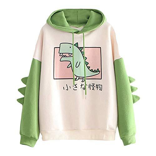 RUNYN Hoodie Damen Sweatshirt mit Kapuze Japanischen Stil Kawaii Karikatur Kapuzenpullover Mädchen Herbst und Winter Pullover für Party Reisen Tägliche