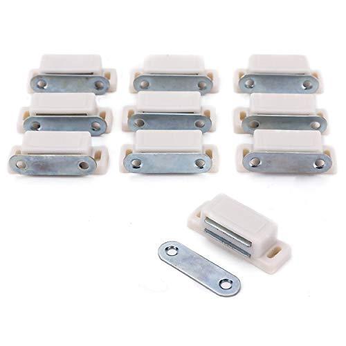 Magnetschnäpper für Schranktür, robust, für Möbel, Küche, Kleiderschrank, 3–6 kg, 45 mm, 10 Stück