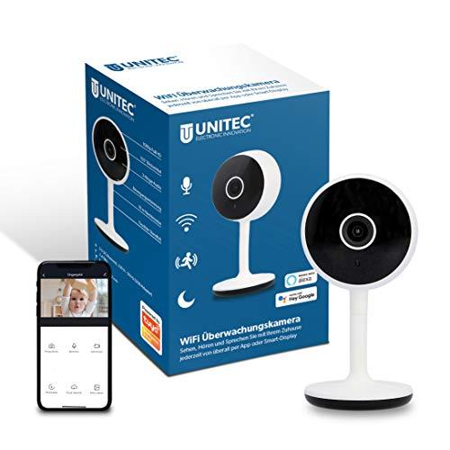 UNITEC WIFI Überwachungskamera | FULL HD Video-Kamera | Bewegungs- und Geräuscherkennung | Nachtsicht-Funktion