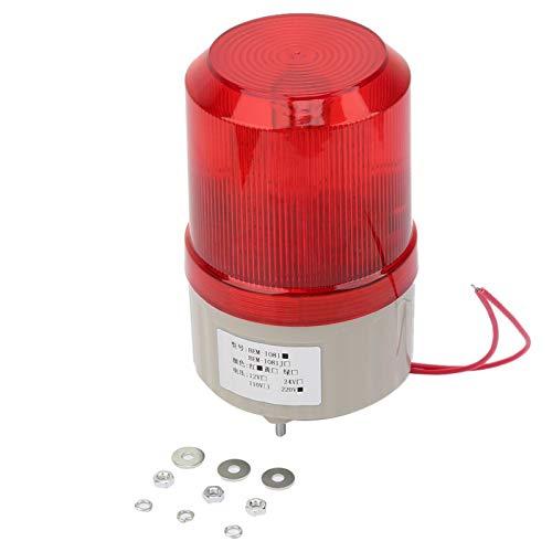 Luz de advertencia estroboscópica, luz de advertencia giratoria, luz de señal intermitente giratoria de 220 VCA Luz de advertencia LED roja con perno triangular de 75 mm de diámetro