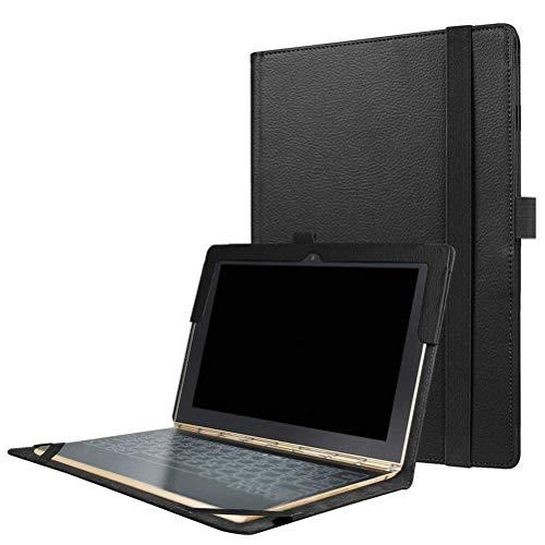 PUBAMALL Funda para Lenovo Yoga Book 10.1 Pulgadas Tablet, con Funda de Cuero Auto Sleep/Wake PU,Cubierta…
