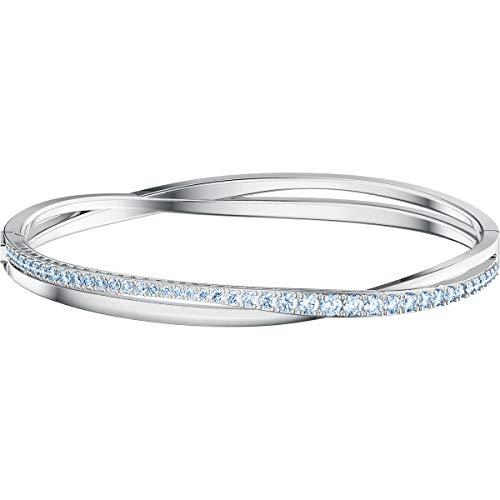 Swarovski Twist Rows Armreif- Silber rhodiniert