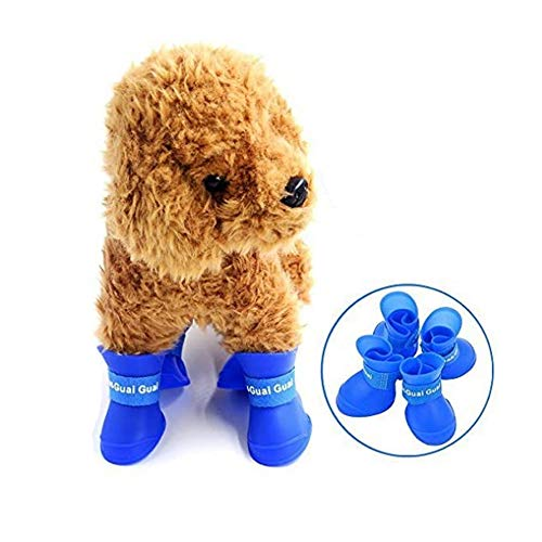 STAR-TOP Boots Pet Antiskid Shoes Skidproof,Elastic Protective Multi-Usage All-Terrain Rubberized Dog Shoes