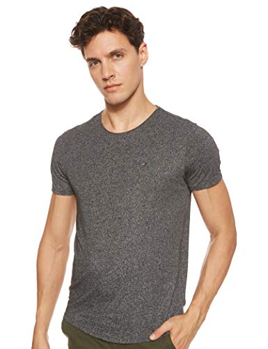 Tommy Jeans Herren Tjm Essential Jaspe Tee T shirt, Schwarz (TOMMY BLACK 078), Small