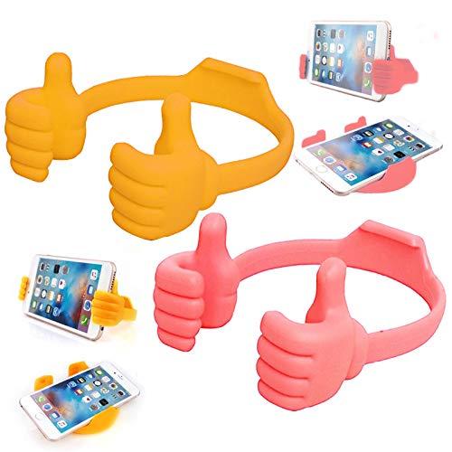 Thumbs Up - Soporte para teléfono celular, soporte para escritorio, silicona ajustable, soporte para tablet para teléfonos inteligentes, iPhone, iPad Mini, Huawei Samsung Galaxy