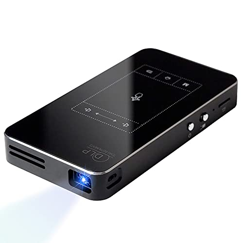 小型 プロジェクター créer モバイルプロジェクター 持ち運びに最適 50ANSIルーメン iPhone対応 5000mAhの 大容量バッテリー ホームプロジェクター