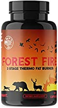 Forest Fire - 3 Stage Thermogenic Fat Burner - Fat Burners for Women, Fat Burners for Men, Suppress Hunger, Burn Fat Not Muscle, Shed Fat to Muscle, Keto Thermogenic Fat Burner, Weight Loss Pills 60
