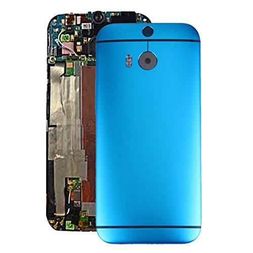 Kompatibler Ersatz IPartsBuy for HTC One M8 Gehäuse-Abdeckungs-Zubehör (Color : Blue)