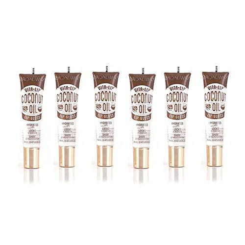 6-PACKS Kiss Broadway Clear Lip Gloss (Coconut Oil)
