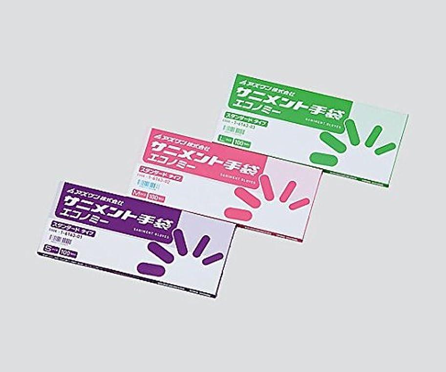 スコットランド人グリーンランド呼吸するアズワン1-6163-01サニメント手袋PEスタンダード(エコノミー)S1箱