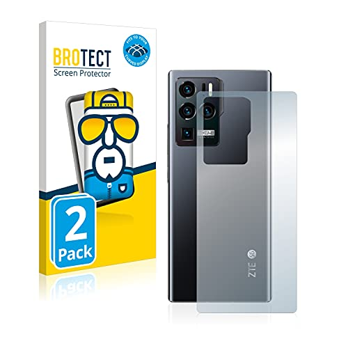 BROTECT Full-Cover Schutzfolie kompatibel mit ZTE Axon 30 Ultra 5G (Rückseite) (2 Stück) - Full-Screen Bildschirmschutz-Folie, 3D Curved, Kristall-Klar