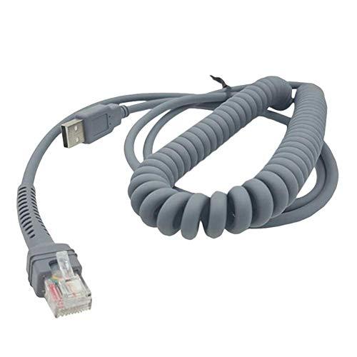 D.ragon USB-Barcode-Scanner USB-Kabel für Ls2208ap Ls1203 Ls4208 Ls4278 Ds6707 Ds6708 Zum RJ45-Kabel Strichcode-Spiralverlängerung
