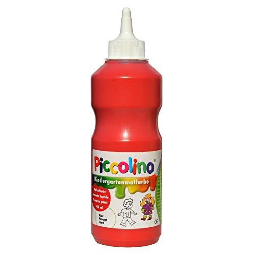 Kindermalfarbe - Piccolino Kindergarten Malfarbe rot 500ml - Schulmalfarbe Kita Grundschule