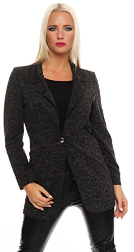 10779 Fashion4Young dames korte jas blazer jassen jas met Reverse Business Gr.36/38