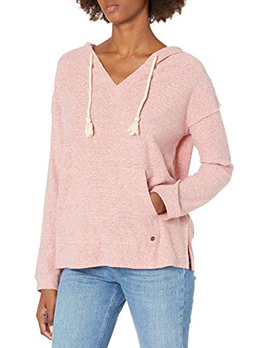 Roxy Damen Lovely Life Long Sleeve Hooded Poncho Pullover, Esche Rose, X-Klein